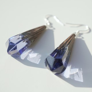 [handmade] Titanium wood UV ice crystal earrings