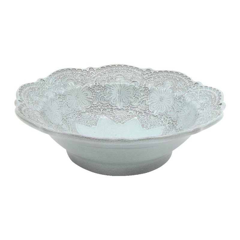 Handmade Embossed Lace Series - 19 CM Salad Bowl (Tiffany Green)
