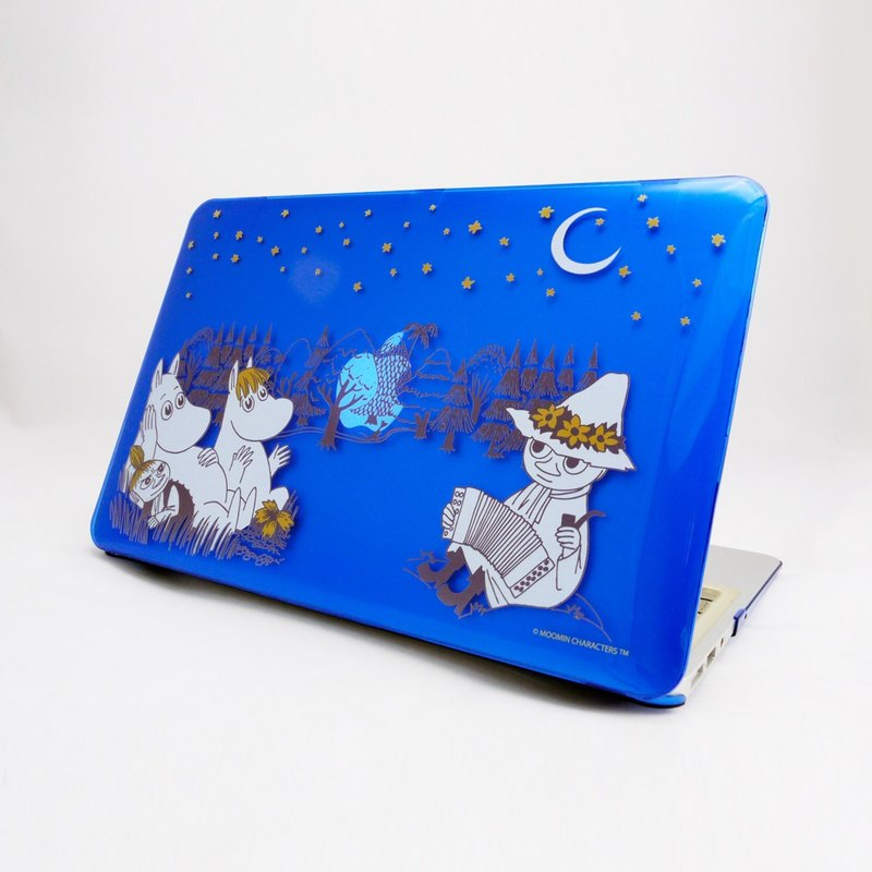 "Moomin Lulu meters genuine license - Macbook Crystal Shell: 【Midsummer Night】 (dark blue) ""Macbook 12"" / 11 """