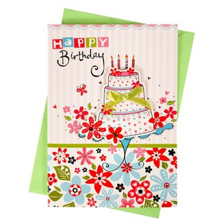 Bring big cakes to bless [Hallmark-handmade card birthday wishes]
