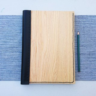 Wooden notebook // mysterious black