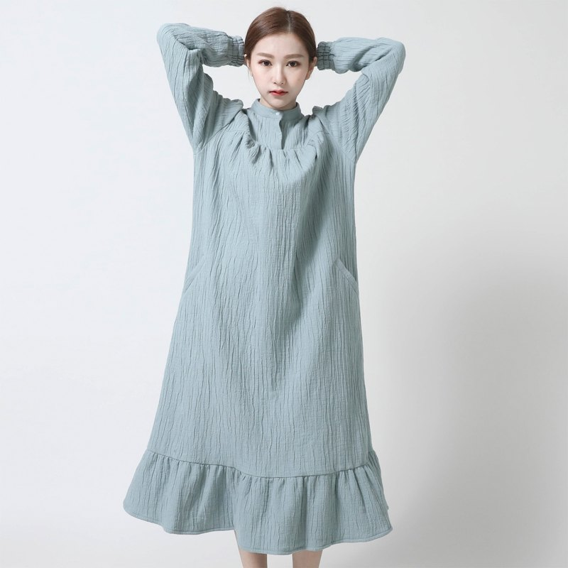 Eve Eve cotton and fishtail dress _6AF114_绿