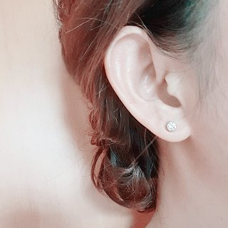 [Value-for-money] 5mm bag set white diamond stainless steel gemstone earrings ear acupuncture hypoallergenic men and women are suitable