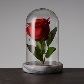 Marble eternal flower base (with glass cover)
