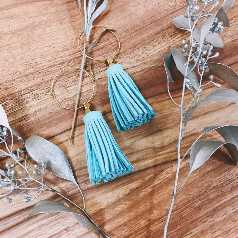 Tassel earrings / give you a sunny day