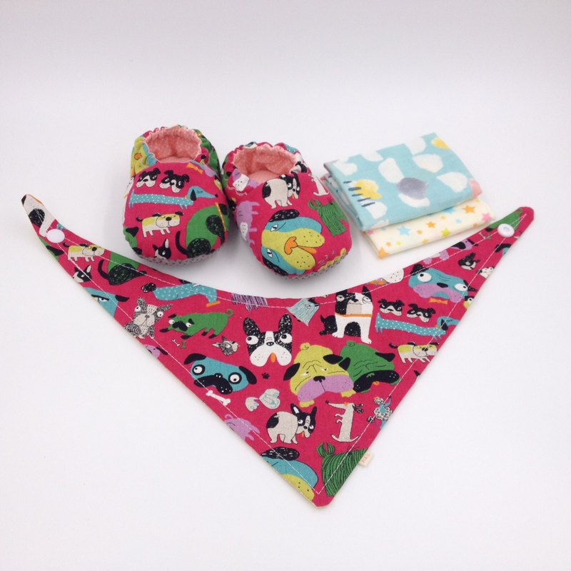 Home has pet foundation - Miyue baby gift box (toddler shoes / baby shoes / baby shoes + 2 handkerchief + scarf)