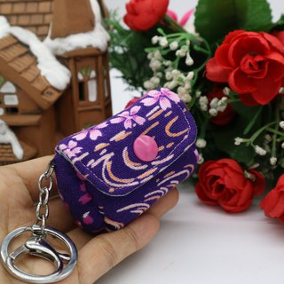 Purple Mini Wallet Charm Pendant Key Ring*SK*