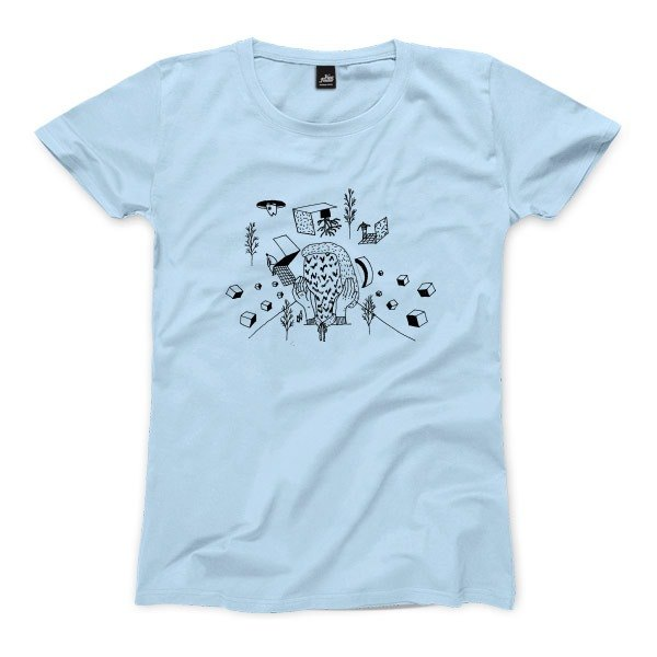 Vomiting people - light blue - Women's T-Shirt