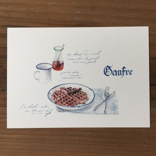 Diet and travel hand drawn postcard - muffin