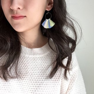 Handmade _ tassel earrings _ hydrangea