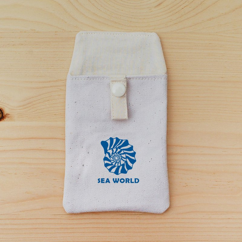 SEA WORLD_Seashell Pocket Pencil Case