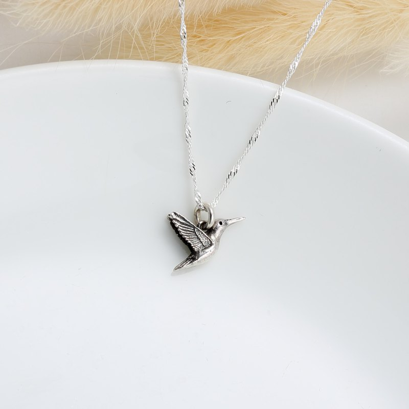 Love Hummingbird s925 sterling silver necklace Valentine Day gift