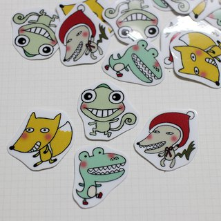 Mini Sticker Pack _ Unpleasant Zoo (20 in)