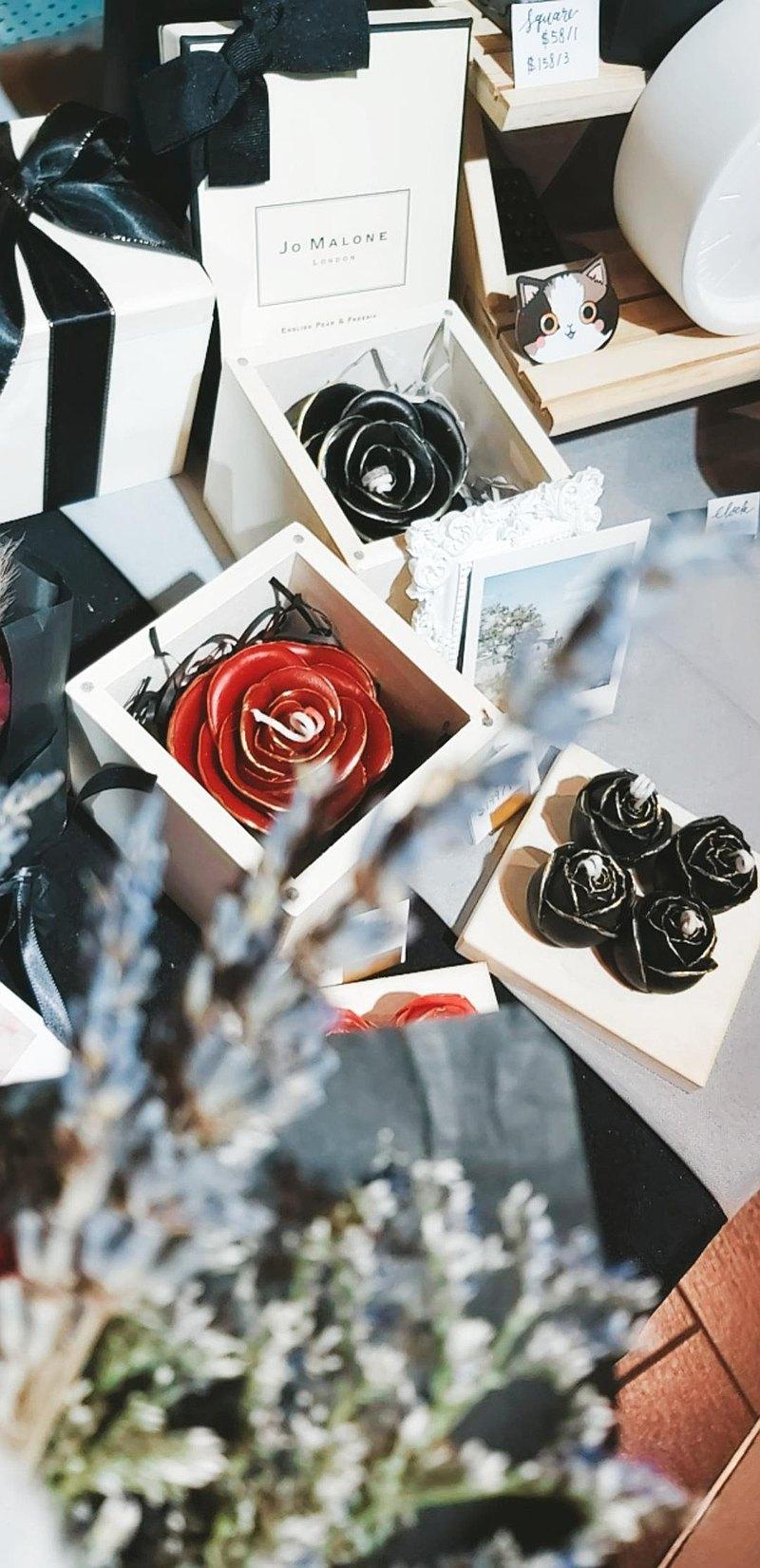 全手工製作 浪漫金邊玫瑰香氛蠟燭禮盒 絕對獨一無二的禮物   R&D