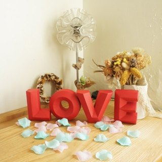 Wedding props / shooting props / LOVE / three-dimensional characters / red three-dimensional wealthy