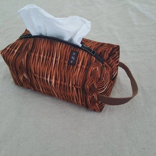 [Linkkimokki] home's face paper bag (vine basket)