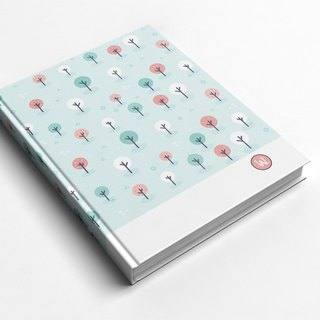 Rococo Strawberry WELKIN Handmade _ Handbook / Notebook / Pocket / Diary - Blue Tree Forest