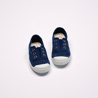 Spanish nationals canvas shoes CIENTA children's shoes jacquard cloth blue fragrance shoes 70998 48