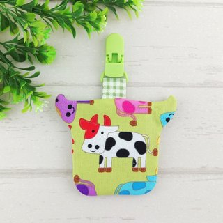 Vitality dairy cows. Taurus modeling safe bag / blessing bag / key ring (can increase the price of 40 embroidery) (Year of the Ox baby)