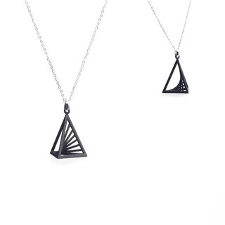 【String Art】3D Printing Triangular Pyramid Necklace
