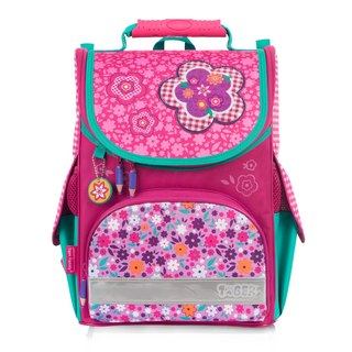 Tiger Family Small Aristocratic Ultra Lightweight Ridge Bag + Stationery Bag + Pencil Case - Pink Floral