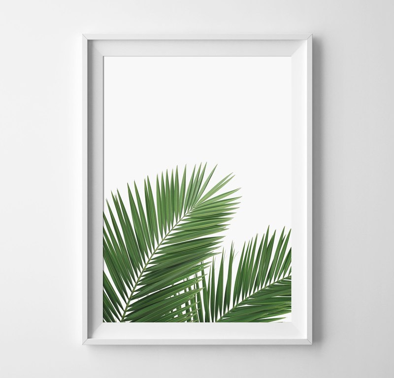 Palm Leaves can be customized poster