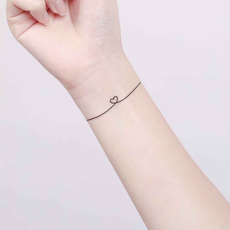 刺青紋身貼紙 - 愛心線 Surprise Tattoos 2入