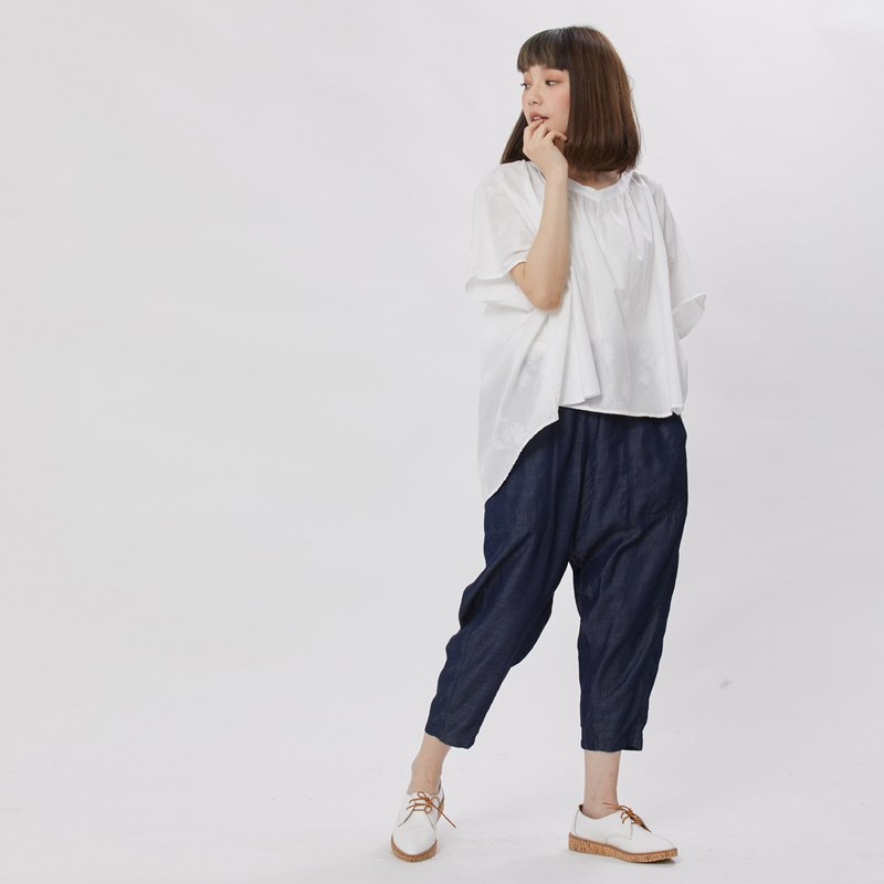 Max Pockets Low Waist Wide Leg Pants /Denim Pants