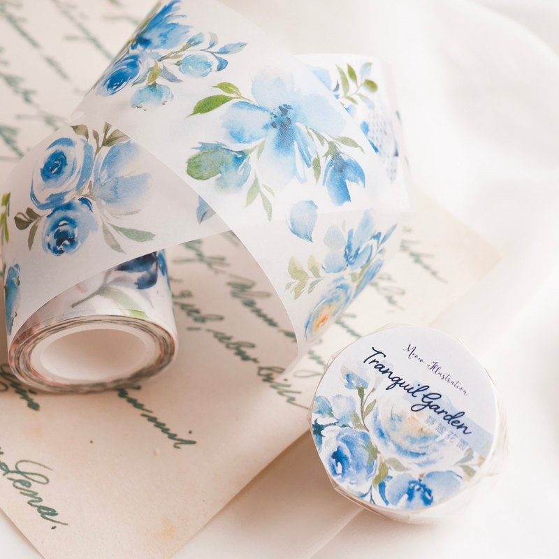 Quiet Garden Paper Tape - Special Oil Containing Release Paper