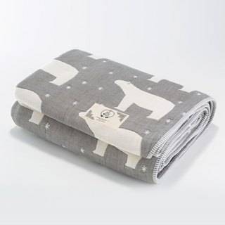 Pre-order [Mr. Sanhe Kapok] six-gauze gauze thick section - Guardian Star Polar Bear (Gray) L