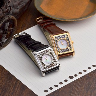 Italian handmade shell carving light jewelry - handmade shell carving watch - W006