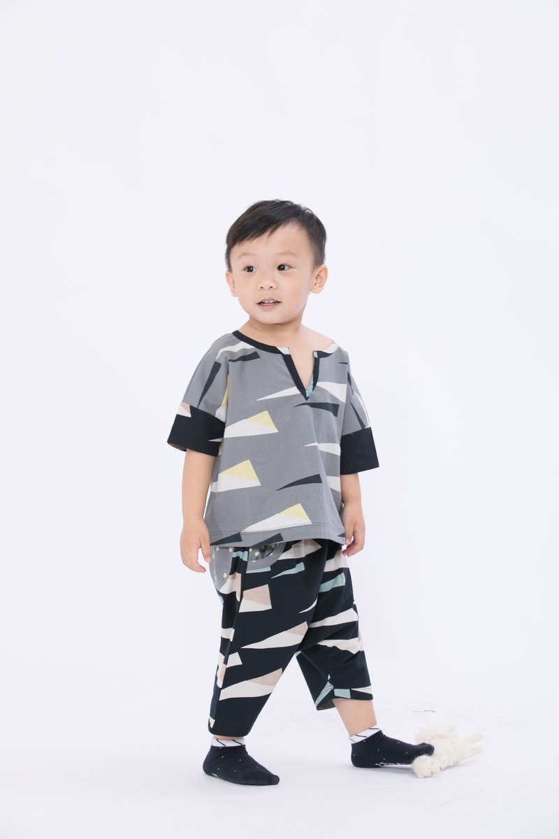 For worry Sensen elves woodcut children's clothing - deep forest emergency pants - fair trade
