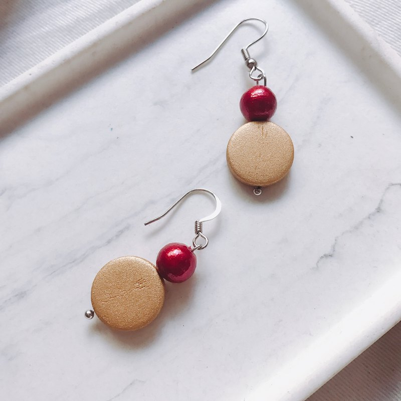 Christmas Elk Red Nose Dangle Earrings