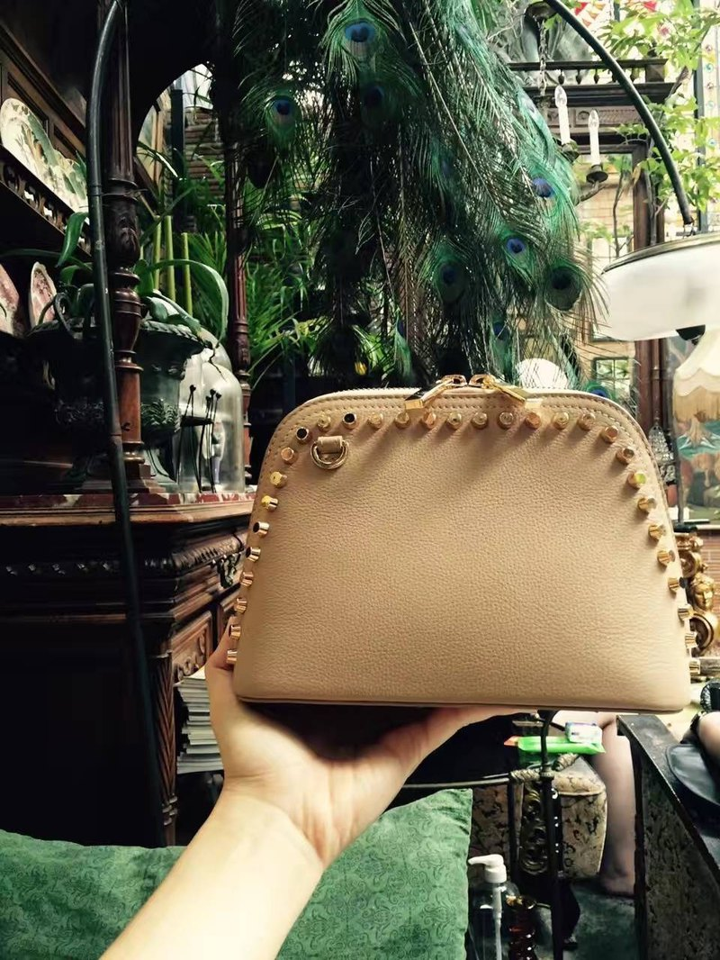 ARTHUR (Beige) mini crossbody leather bag