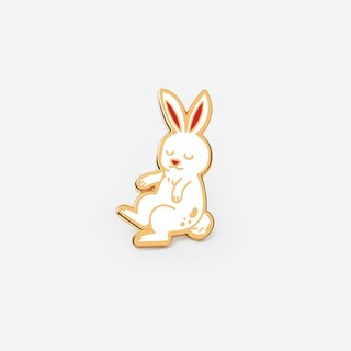Floating Rabbit enamel pin