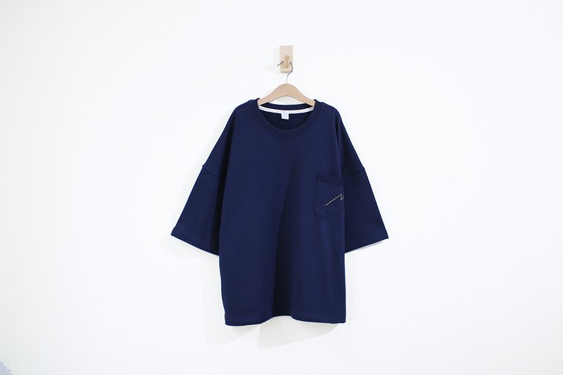 Lightning Line Pocket Cotton Super Thick Cotton Five-Sleeve Top - Zhang Qing