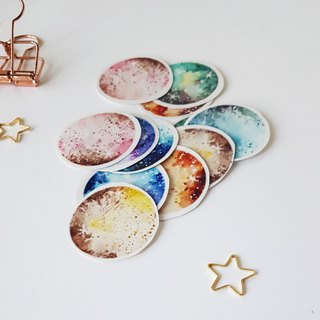 Planets, diffuse planets, transparent stickers