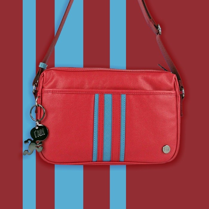 Free Shipping I AM - Classic Item Side Backpack - Red / Blue Stripes