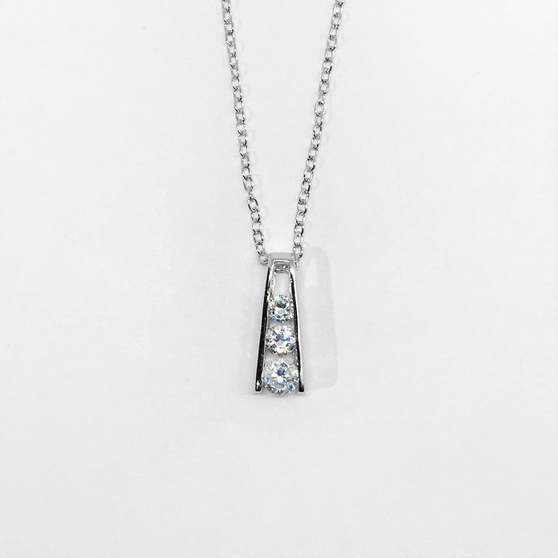 Trinity - Zircon 925 Sterling Silver Handmade Pendant [without chain]