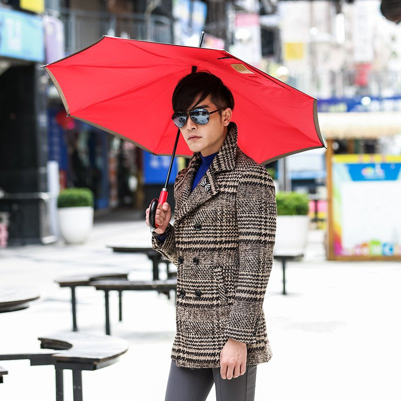 [Carry Umbrella] Metropolitan Solid Color Reverse Umbrella (Iron Grey/21吋)