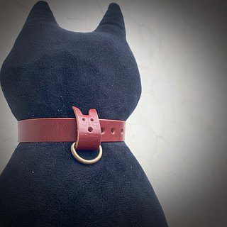 Pet collar (for cats/dogs) Hand stained 8 colors for cowskin leather