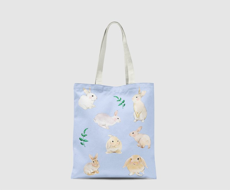 Watercolor bunny hare rabbit cony Pattern Tote Bag