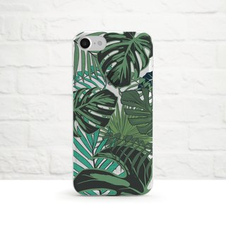 Tropical Leaves, Clear Soft Case, iPhone Xs Max, Xr to iPhone SE