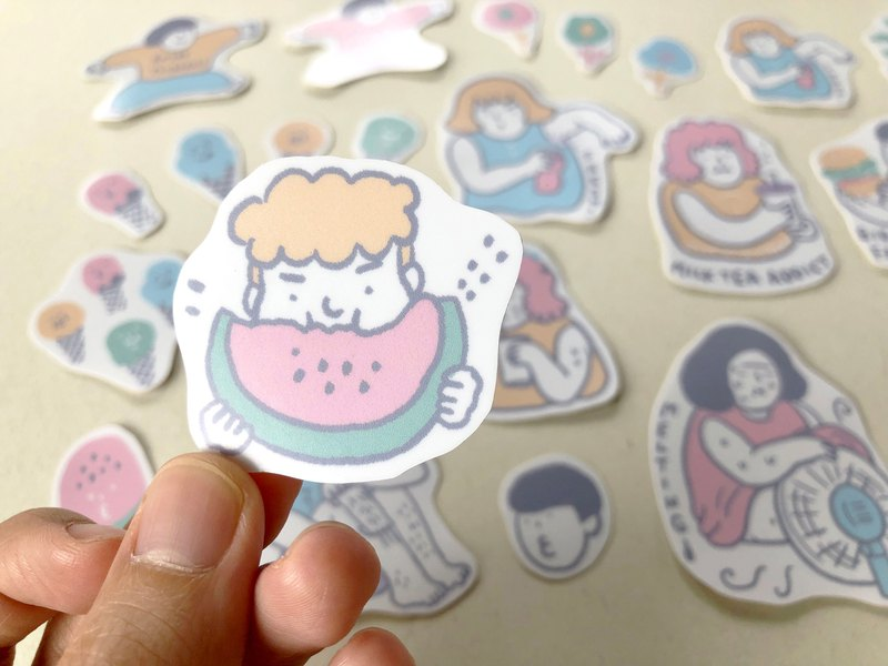 HOT SUMMER stickers (6 pieces)