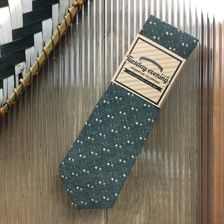 Neck tie Green Dot Cross