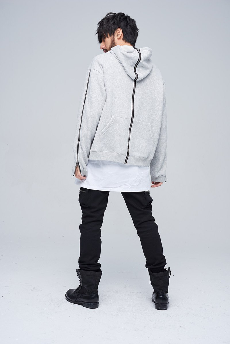 Positive and negative coat Hooded 9116