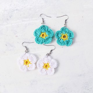 Handmade Earrings Flower Style - 2Color Set(2into) | pierced or clip-on earring
