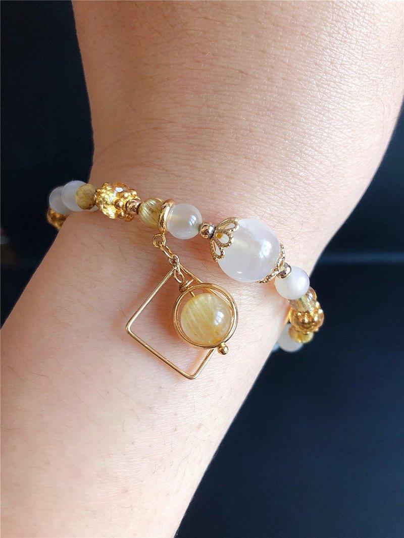 樂藏。輕珠寶||金髮晶||月光石||招財||轉運||旺事業||天然設計款
