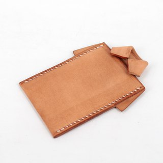 MOOS X WASOME ORIGAMI Vegetable tanned leather hand-sewn ID card holder (primary color)