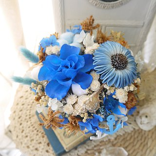 Maritime Boy. Marine Blue Line. Not Withering Roses Birthday Dry Flower Gift